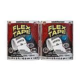Flex Tape Rubberized Waterproof Tape, 4' x 5', White (2...