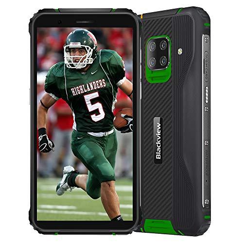 Blackview BV5100 (2020) Smartphones 4G Resistentes IP68 Android 10, 4GB + 128GB, cámara HDR de 16MP + 13MP, Carga inalámbrica, teléfono Celular Desbloqueado, 5.7 '' HD +, NFC FM Brújula Verde