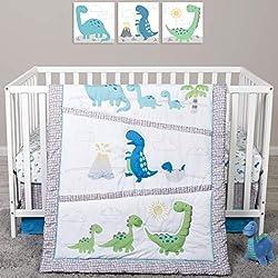 4. Sammy And Lou Dinosaur Pals 4 Piece Crib Bedding Set