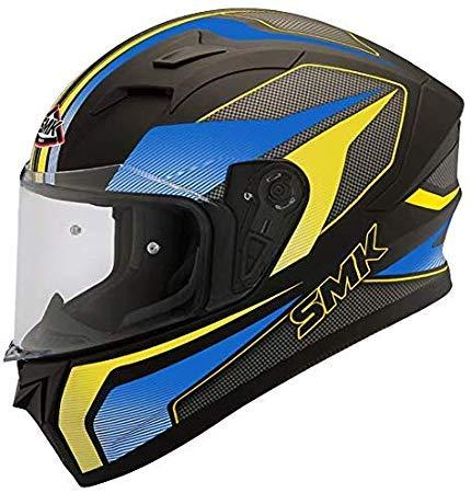 SMK Helmets - Stellar - Dynamo - Black Blue Yellow - Pinlock...