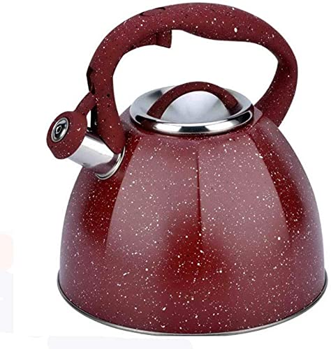 Ronglibai Tetera inducción Tetera Acero Inoxidable Teteras para fogón Hervidor con Silbato, hervidor de té con silbido de Acero Inoxidable de 3 litros, Tetera para Estufa con Mango ergonómico de a