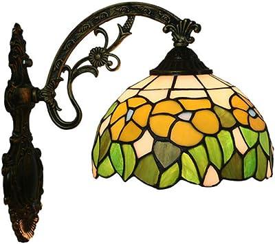 L&L Lámpara de Pared Tiffany Estilo Retro jardín Creativo de ...