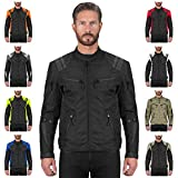 Viking Cycle Ironborn Protective Textile Motorcycle Jacket for Men - Waterproof, Breathable, CE Approved Armor for Bikers (Black, Small)