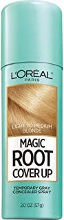 L'Oreal Paris Magic Root Cover Up Temporary Gray Concealer Spray, Light To Medium Blonde, 57g