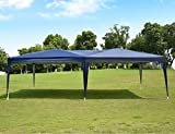 NSdirect EZ Easy Pop Up Canopy Tent Outdoor Portable Party Tent with Carrying Case/Bag Adjustable Folding Gazebo Pavilion Wedding Patio Shelter (10 x 20 ft Blue)