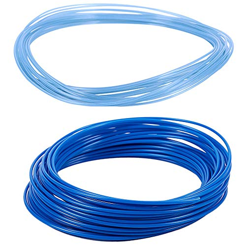 Nrpfell 2Pcs 3D Printer Pen Filament 1.75Mm PLA 10M - Blue & Glow in DarK Blue