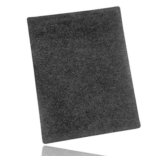 LILENO HOME Grill u. BBQ Matte (100 x 120 cm) anthrazit - als perfekte bodenschutz Unterlage für Gas u. Holzkohlegrill - Grillunterlage Bodenschutzmatte für Familien-Grillabend auf der Terrasse