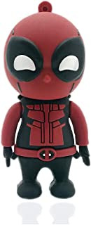 Novelty Deadpool Shape Design 16GB USB 2.0 Flash Drive Cute Memory Stick Stitch Thumb Drive Data Storage Pendrive Cartoon ...