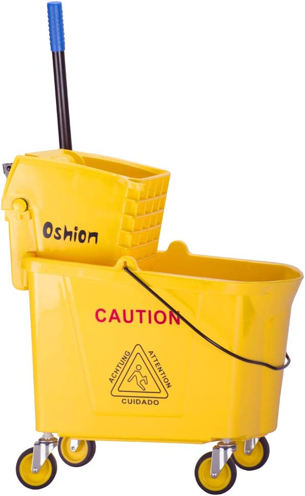 QWEEI Limited time for free shipping Rolling Cleaning Mopping Selling rankings Bucket Mop B Commercial 34 Quart