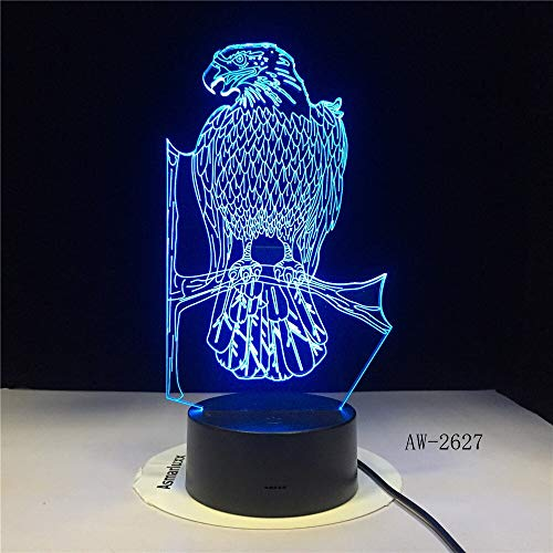 Only 1 Piece Badge 3D Illusion USB Light Home Decoration LED Novelty Desk Night Light