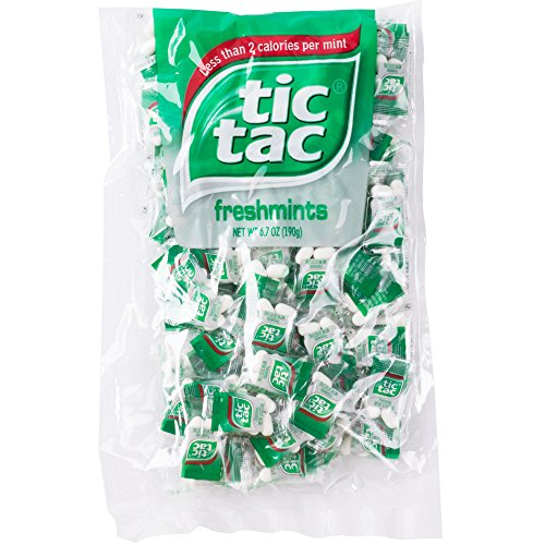tic tac Freshmint Pillow Pack, 100Count bag (Pack 2) 200 individually wrapped Pack of 4 mints each