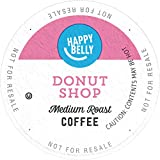 Amazon Brand - 100 Ct. Happy Belly Medium-Light Roast Coffee Pods, Donut Style, Compatible with Keurig 2.0 K-Cup Brewers
