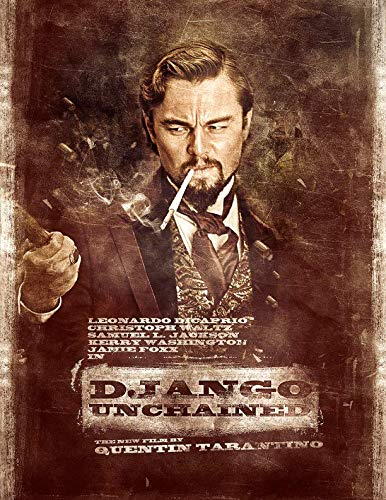 """Django Unchained Movie Poster Wall Decor 14"""" x 21"""" ( NOT A DVD )"""