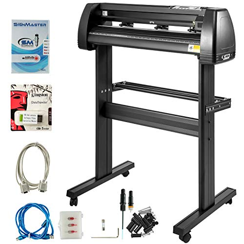 VEVOR Vinyl Cutter 28 Inch Plotter Machine 720mm Paper Feed Vinyl Cutter Plotter Signmaster Software Sign Making Machine with Stand (28Inch Style 2)