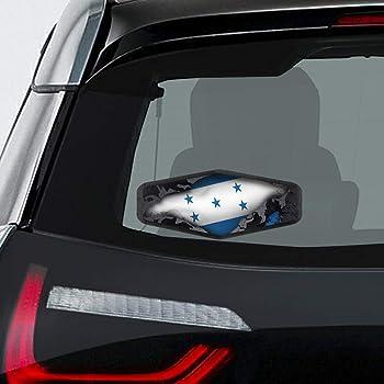 Honduras Flag Emblem Chrome Car Decal Sticker Dome