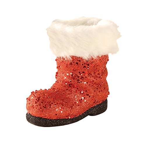 GALLERIE II Santa's Boot Figure red White