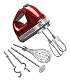 KitchenAid KHM926WH 9-Speed Digital Hand Mixer with Turbo Beater II Accessories and Pro Whisk -...