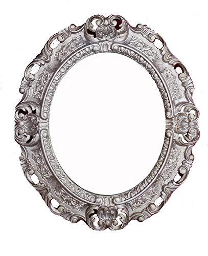 Lnxp WANDSPIEGEL Spiegel Oval in Altsilber REPRO 45x38 ANTIK BAROCK Rokoko Vintage REPLIKATE Renaissance BAROCKSTIL
