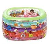 Barriles Bañera bañera inflable piscina del bebé en color verde friega piscina de baño (Color: A, tamaño: 115 * 95 * 75 cm) (Color: B, tamaño: 140 * 110 * 70cm) ZGHE ( Color : A , Size : 115*95*75cm )