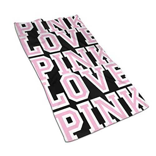 antcreptson Victoria Secret Love Pink Hand Towels 30 X 16 Inch,Unicorn Bath Bathroom Towels Multipurpose Towel Highly Absorbent for Bath,Hand,Face,Gym,Spa