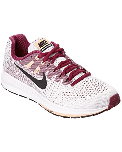 Nike Wmns Air Zoom Structure 20, Zapatillas de Running para Mujer, Blanco (White/True Berry/Sunset Glow/Black), 38.5 EU