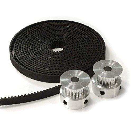 3D Printer Timing Belt Pulley GT2 For CNC Reprap Prusa i3 2pcs Aluminum 20T Pulley Eewolf