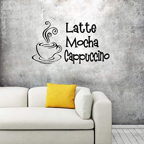 Wandtattoo Wandsticker Wandaufkleber,Heiße Kaffeetasse Kaffeetasse Wohnzimmer Esszimmer Dekorative Malerei Wandaufkleber,