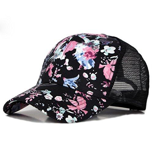Weimay Mujeres Sombrero de Sol Hermosa Flor de impresión Gorra de béisbol para Deportes al Aire Libre y Ocio Urbano