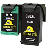 Yellow Yeti Remanufacturados 350XL 351XL Cartuchos de Tinta Negro/Color para HP Photosmart C4280 C4340 C4380 C4480 C4485 C4524 C4580 C4585 C5280 D5360 Deskjet D4260 D4360 Officejet J6424 J5780 J5785