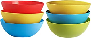 Kuber Industries Plastic Microwave Safe 6 Pieces Mixing Bowl Set- 1000 ML (Multi)