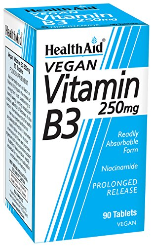 HealthAid Vitamin B3 (Niacinamide) 250mg - Prolong Release - 90 Tablets