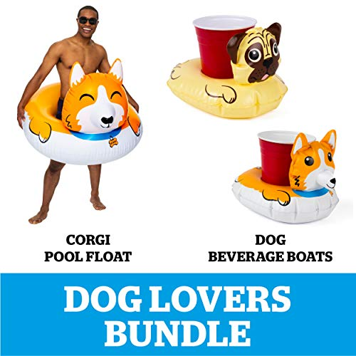 Best Price BigMouth Inc. Corgi Lovers Pool Party Bundle, Corgi Pool Float and Cute Dogs Beverage Boa...