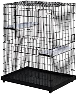 Precision 1720-17025FD 48-Inch Cargo Kennel Large Kitty Condo with Plastic Base