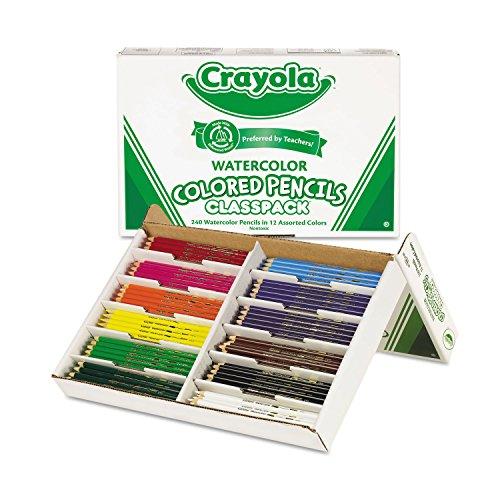 Watercolor+Wood+Pencil+Classpack%2c+3.3+mm%2c+12+Asstd+Clrs%2c+240+Pencils%2fBox (CYO684240)