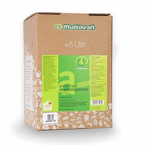 Effektive Mikroorganismen Aktiv (EM-Aktiv), Bodenhilfsstoff - Dünger - 5 Liter Box/Bag