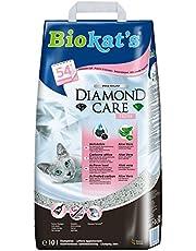 Biokat's Diamond Care Fresh mit Duft - Feine Katzenstreu mit Aktivkohle und Aloe Vera - 1 Sack (1 x 10 L)