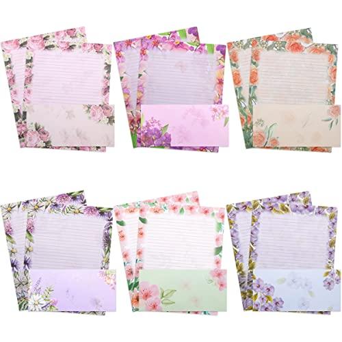 Stationery Paper and Envelopes Set 48 PCS Letter Writing Stationery 24 PCS Envelopes Stationary Paper 8.5X11