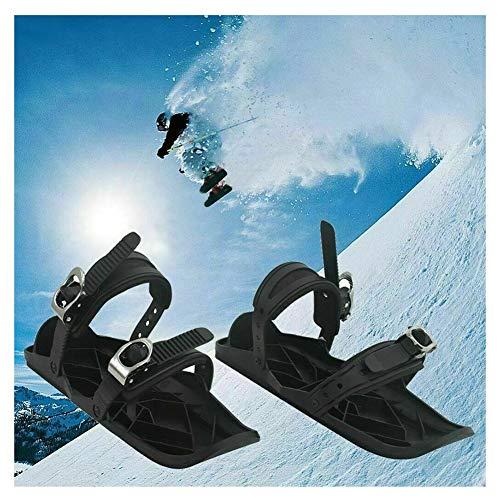 SOAR Raquetas Nieve Ski Shoes Skates Nylon Sole Bitings- Mini Snowskate Snowboard Sled Sled-One Tamaño Se Adapta a Todos para Hombres Mujeres Mujeres Universal Sports Ski Shoes