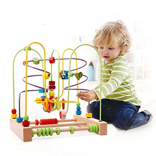 Kayiyasu カイヤス キッズ 木製 知育玩具 ルーピング おもちゃ どうぶつ ビーズコースター 021-lzgy-d119(3...