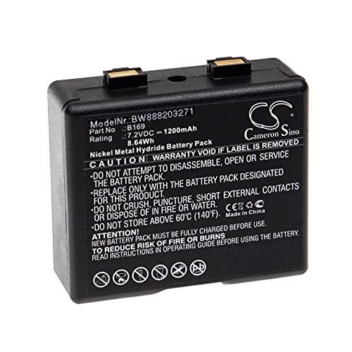 vhbw Batería Recargable Compatible con Bosch FuG11b, HFG169, HFG450, HFG89 Radio (1200 mAh, 7,2 V, NiMH)