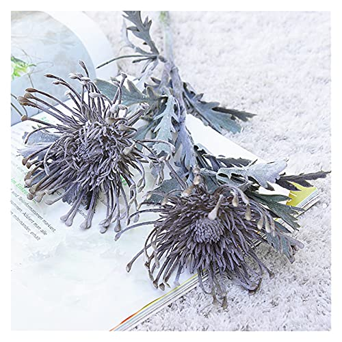 LUKJOPAN Artificial flowers Artificial Flowers Short Branch Crab Claw 2 Fork Pincushion Christmas Garland Vase for Home Wedding Decoration Fake Planting (Color : Gray)