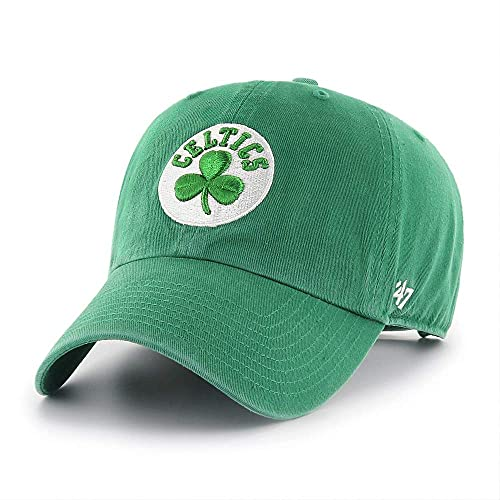 NBA Team Color Clean Up Adjustable Hat, Adult (Boston Celtics Green)