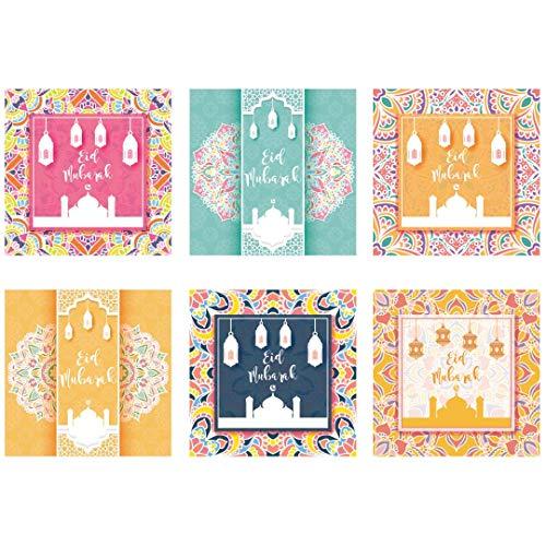 Peacock Supplies - Eid Mubarak Greeting Cards (6pk) - Bright Eid