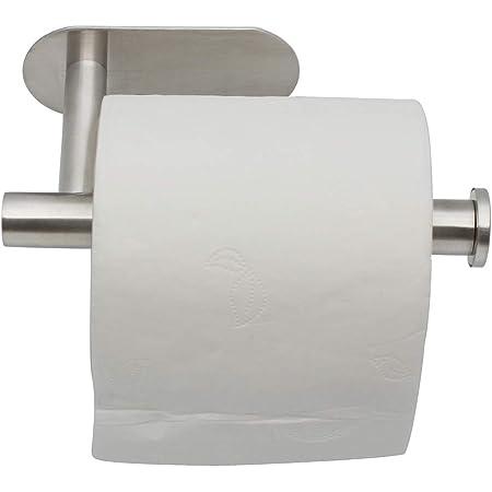 FineInno Inox Soporte Papel Higienico Sin Taladrar Toilet Paper Holder Portarollos Papel Higienico Adhesivo Portarollos Ba/ño con el Tel/éfono M/óvil Estante de Almacenamiento,SUS 304