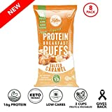 Better Than Good Low Carb Keto Protein Puffs (Salted Caramel 8-Pack) 2 Servings of Fruits & Veggies...