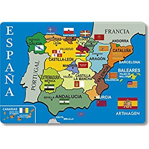 Artimagen Imán Mapa Provincias España 80x55 mm.: Amazon.es: Hogar