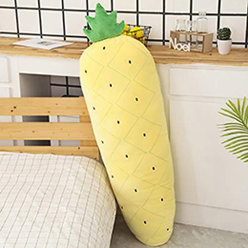 Xiaoahua Frutas de Felpa largas, Plantas Vegetales, Juguete de Peluche Gigante, Almohada para piernas para Dormir, Fresa roja, piña, Cactus, maíz, Zanahoria, 120 cm, piña