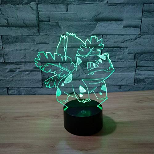 LPHMMD Nachtlampje 3D Lamp Kikker Zaad 7 Kleur LED Nachtlampen Kids Touch LED USB Baby Slee Nachtlampje