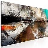 murando Cuadro Acústico Abstracto 135x45 cm XXL Impresión Artística 1 Piezas Lienzo de Tejido no Tejido Estampado Decoración de Pared Aislamiento Absorción de Sonidos a-A-0596-b-a