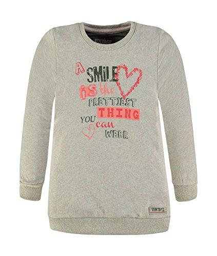 Kanz Mädchen 1724087 Sweatshirt, Rosa (Fog Rose Melange 8427), 116